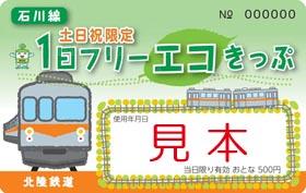 土日祝限定1日フリーエコきっぷ石川線